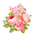 summer flowers bouquet vector image