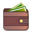 wallet icon flat style vector image