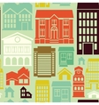seamless pattern with houses and buildings vector image vector image