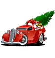 Cartoon Christmas Pickup vector image vector image