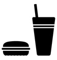 fast food symbol vector image