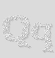 Decorated letter q vector image vector image
