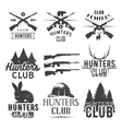 set of hunting club labels in vintage style vector image vector image