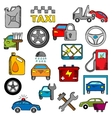 Car and repair service icons vector image vector image