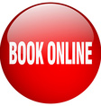 book online red round gel isolated push button vector image