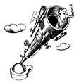big telescope vector image