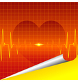 cardiac silhouette background vector image