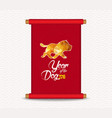 chinese new year traditional chinese handscroll vector image