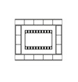 Cinema icon movie theater logo vector image