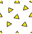 Cute seamless pattern with yellow triangles vector image