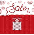 Knitting background Sale vector image