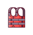 red life jacket icon vector image