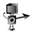Robot TV vector image