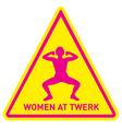 women at twerk sign vector image vector image