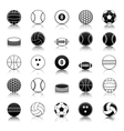 Sport balls icons pack vector image