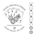 Poker emblem with place for your text vector image