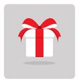 flat icon white gift box vector image