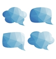 set of bubbles for thought vector image