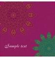 Mandala background tribal ethnic ornament vector image vector image
