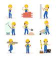 builder cartoon character constructor vector image