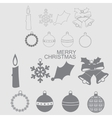 Christmas and New Year icon vector image