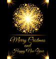 christmas greeting card and happy new year invitat vector image