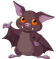 Halloween bat presenting vector image