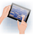 Hands Holding a Tablet vector image