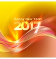 Happy New Year background with blue wave vector image
