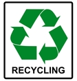Recycle Green Symbol Eco flat vector image