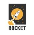 rocket logo vector image