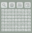 Universal Web Icons Set Soft Grey Edition vector image