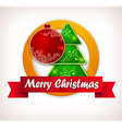 christmas lable vector image vector image