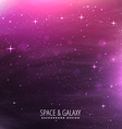 universe stars template vector image