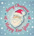 Santa vintage and snow 2017 vector image vector image