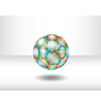 Isolated soccer ball vector image vector image