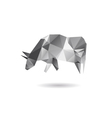 Cow abstract isolated on a white backgrounds vector image vector image