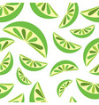 seamless background with green lime slices tile vector image vector image