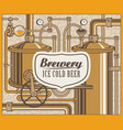 banner with the brewery vector image