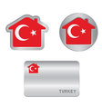 Home icon on the Turkey flag vector image vector image