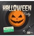 halloween party vinyl vector image vector image