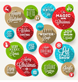 Set of round frames with Christmas greeting vector image