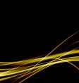 Golden swoosh smooth soft satin futuristic vector image vector image