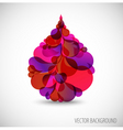 abstract blood droplet vector image vector image