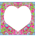 floral ornament and heart in the middle vector image