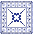 Mediterranean traditional blue and white tile vector image
