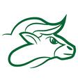 zodiac sign taurus logo vector image vector image