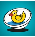 basin with a duck vector image