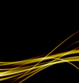 Golden swoosh smooth soft satin futuristic vector image