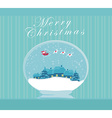 Santa Claus in a glass ball vector image